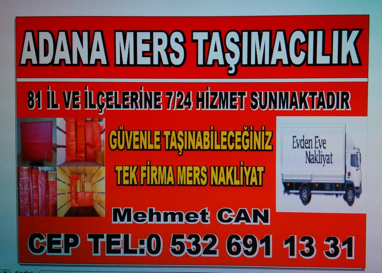 Adana mers nakliyat Evden eve nakliye firması